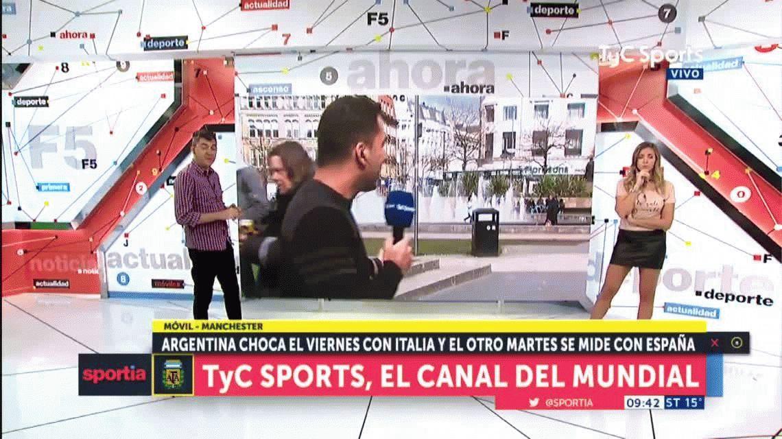 ¡Insólito! Un indigente atacó al periodista Martín Arévalo mientras estaba al aire