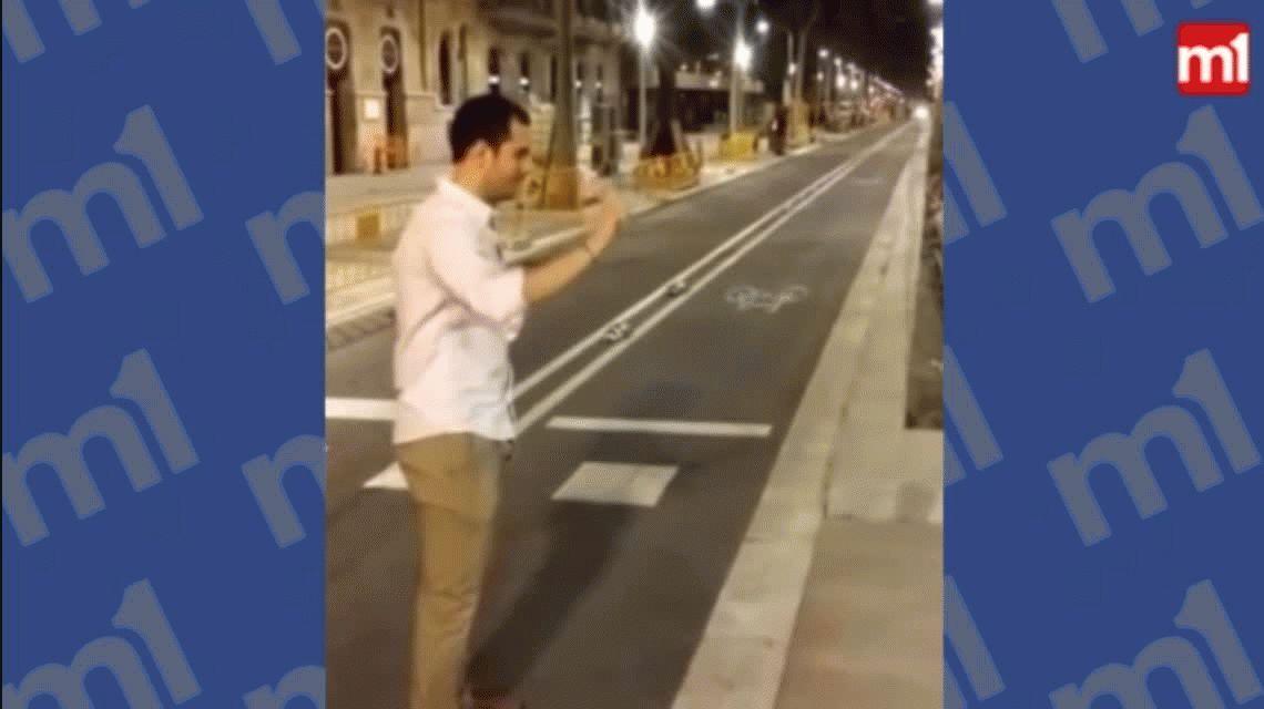 Pateó por diversión a una mujer que esperaba cruzar la calle: deberá pagarle 48 mil euros