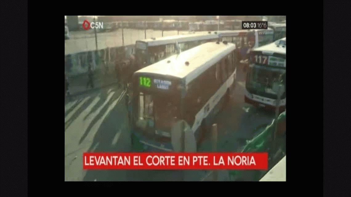 Se levantó el corte en Puente La Noria: se normaliza el tránsito hacia Capital