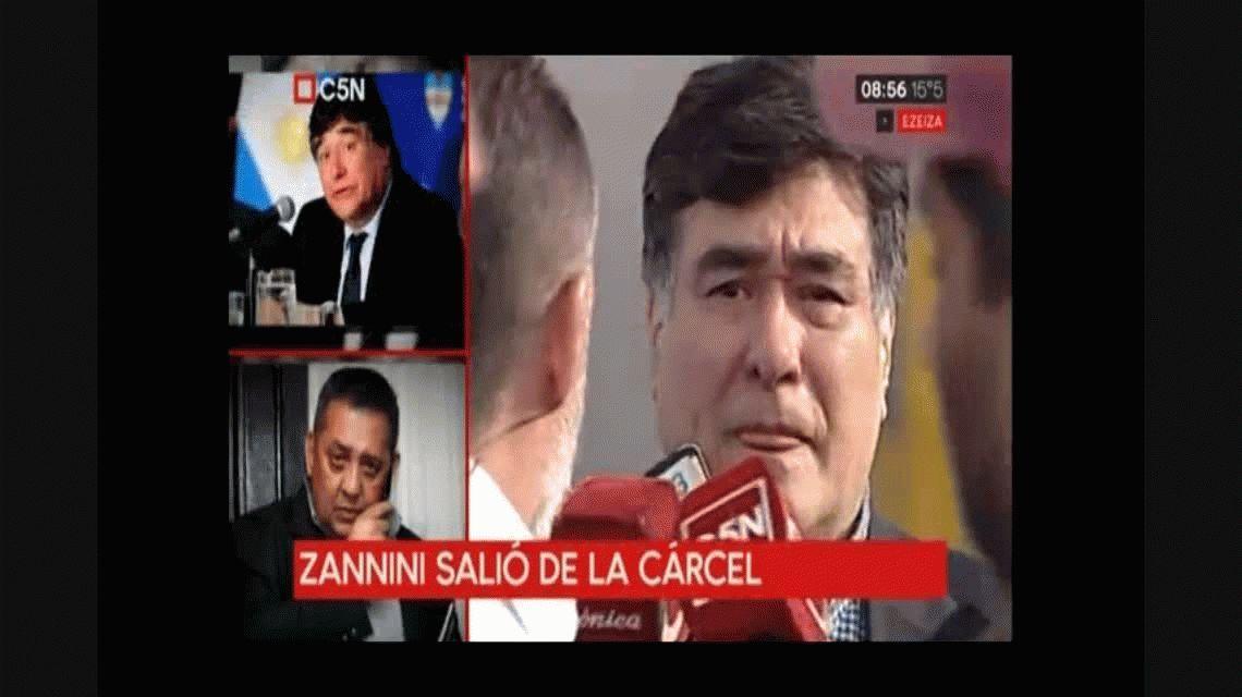 Zannini, en libertad: Estuve preso por voluntad del Gobierno