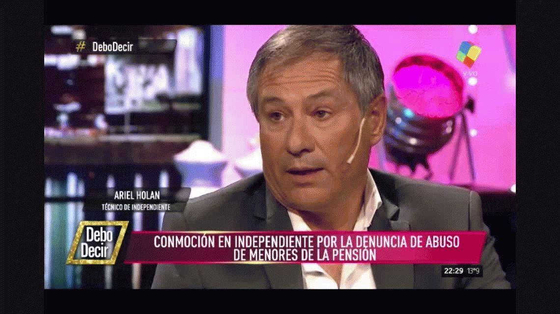 Holan y el abuso de menores en Independiente: Desgraciadamente no me sorprendió