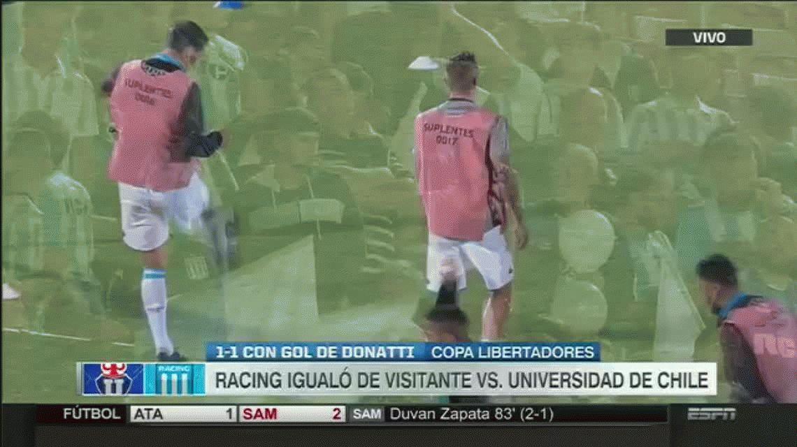 Universidad de Chile 1 - Racing Club 1 por la Copa Libertadores: goles y estadísticas