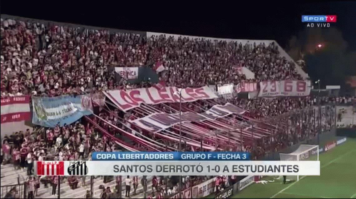 Por un gol en offside, Estudiantes perdió con Santos de local