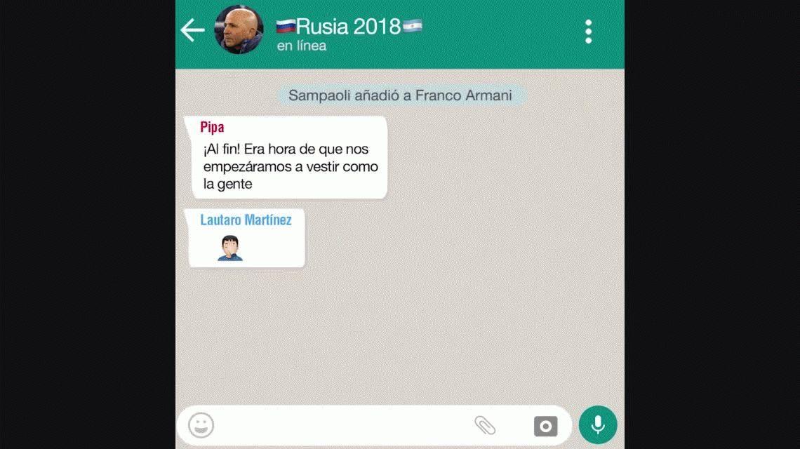 El WhatsApp de la Selección: Llega Franco...¿quién se va?