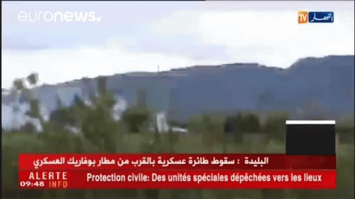 Argelia: se estrelló un avión militar y murieron 257 soldados