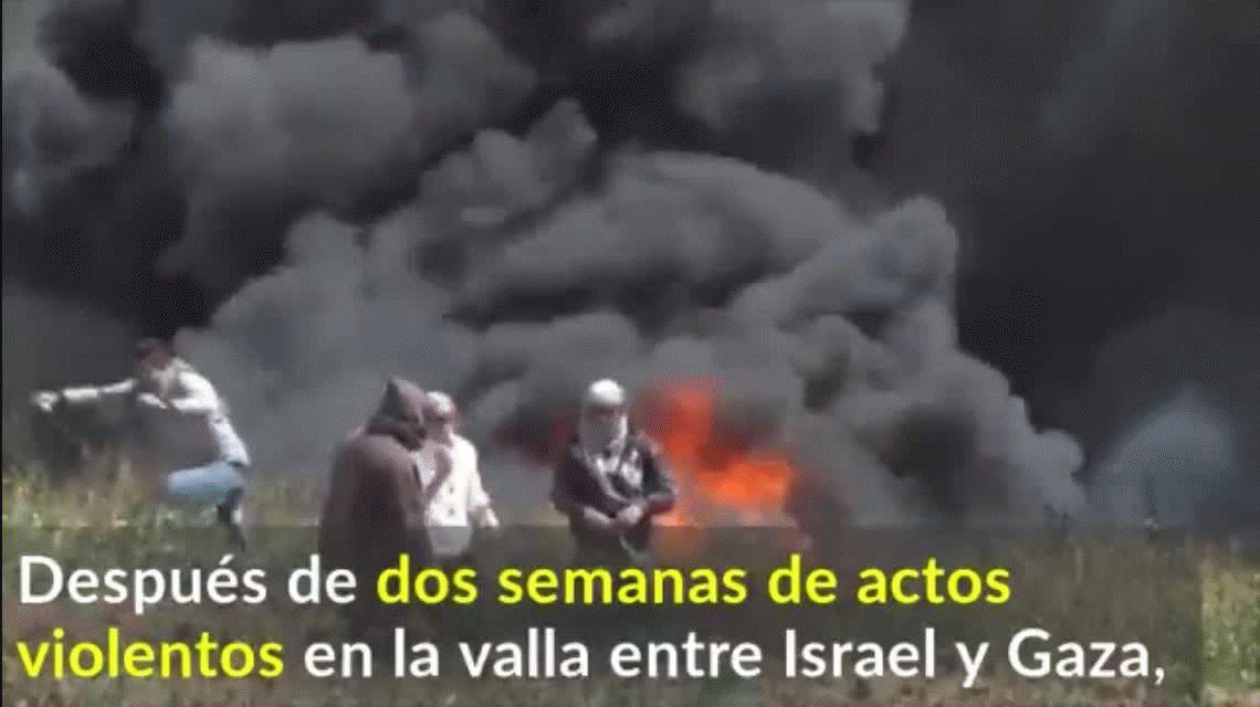 Un palestino muerto y 900 heridos durante una protesta en la Franja de Gaza