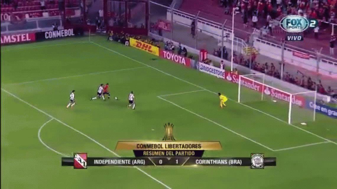 Corinthians le ganó a Independiente y lo deja complicado para avanzar en la Copa Libertadores