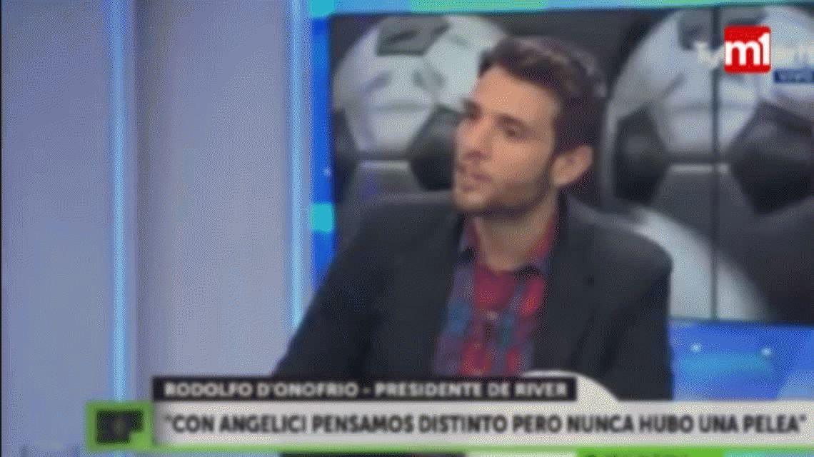 Tenso cruce entre DOnofrio y Martín Arévalo: Vos siempre hablás a favor de Boca