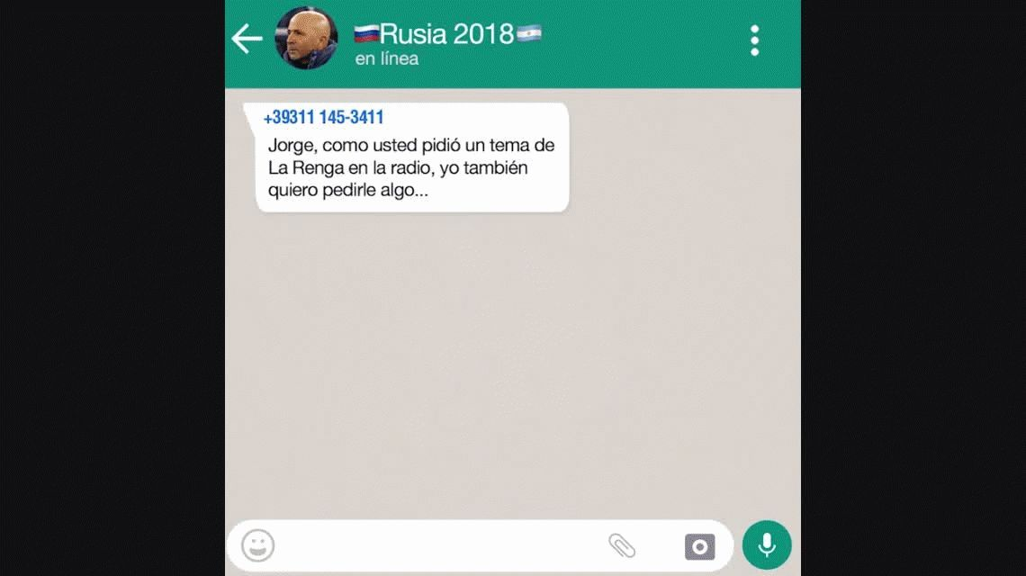 El Whatsapp de la Selección: La canción de Icardi para Sampaoli
