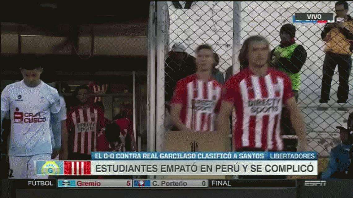 Estudiantes empató con Real Garcilaso y se complica su pase a octavos de final
