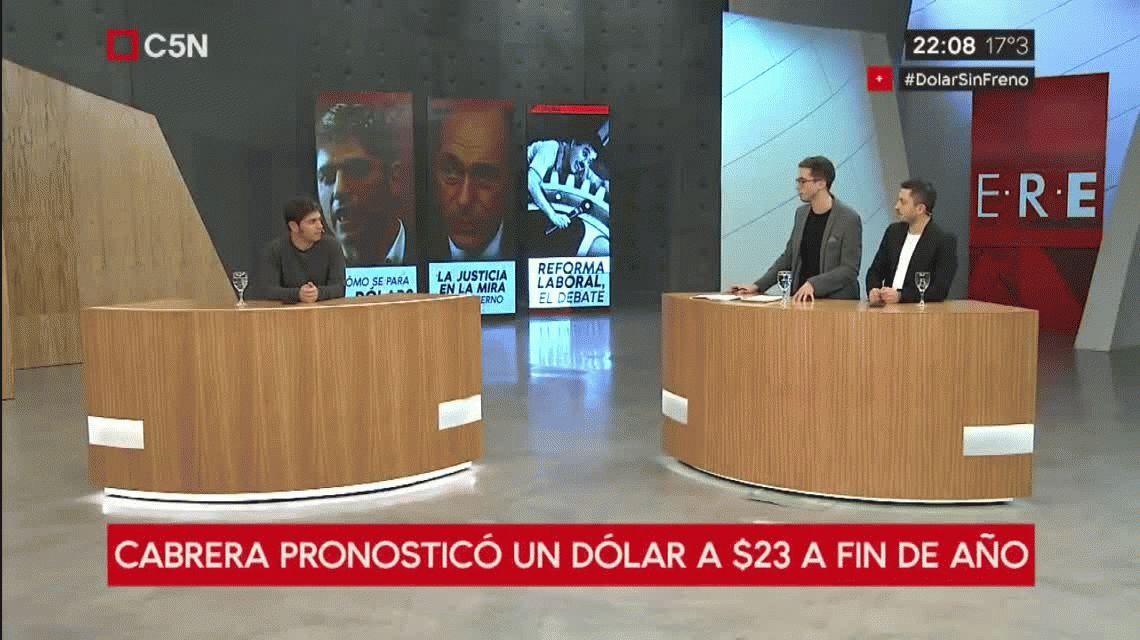 Kicillof en C5N: Hay graves problemas de gobernabilidad