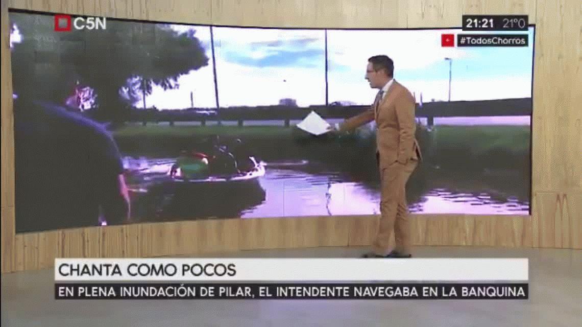 En ADN visitaron a pie la falsa inundación del intendente de Pilar