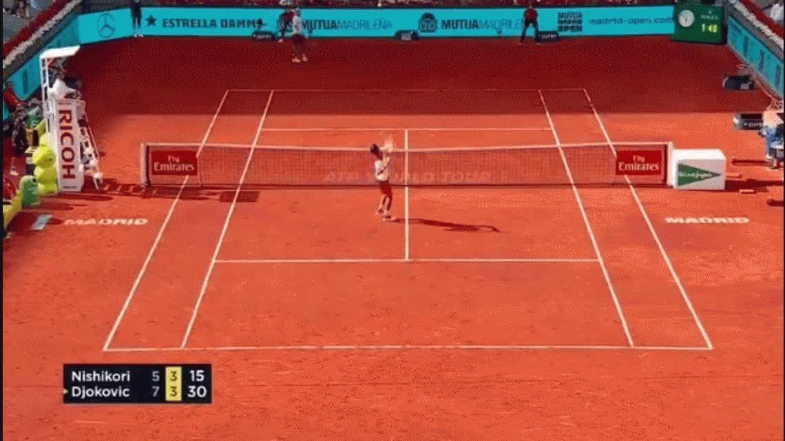 Ver para creer: el insólito blooper de Novak Djokovic en el Masters 1000 de Madrid