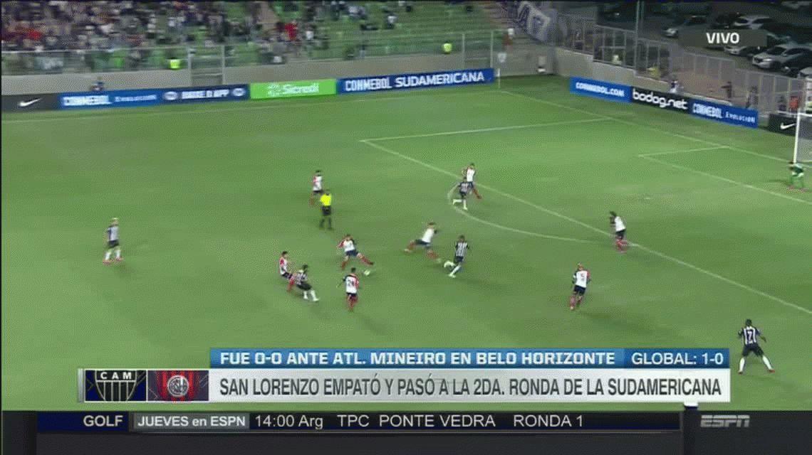 San Lorenzo empató en Brasil con Atlético Mineiro y avanza en la Copa Sudamericana
