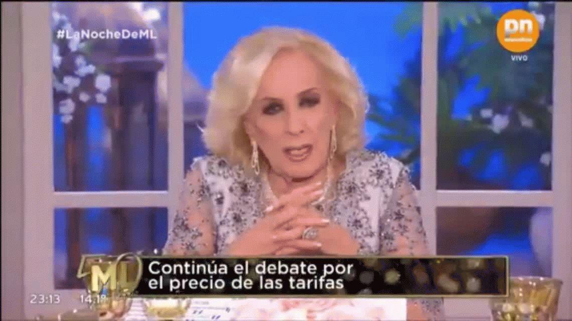 Mirtha Legrand volvió a criticar al Gobierno: Marcos Peña dice que está todo bien, pero es mentira