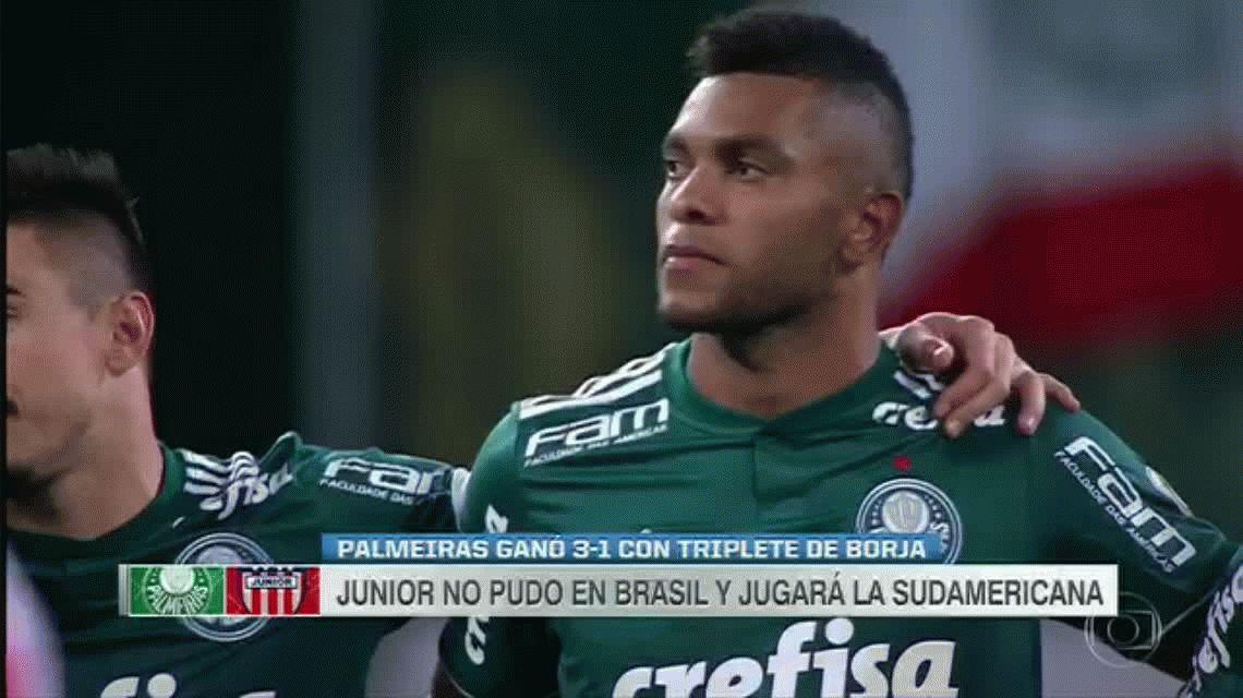 Gracias al arquero y a Borja, Palmeiras le ganó a Junior y le dio una mano a Boca