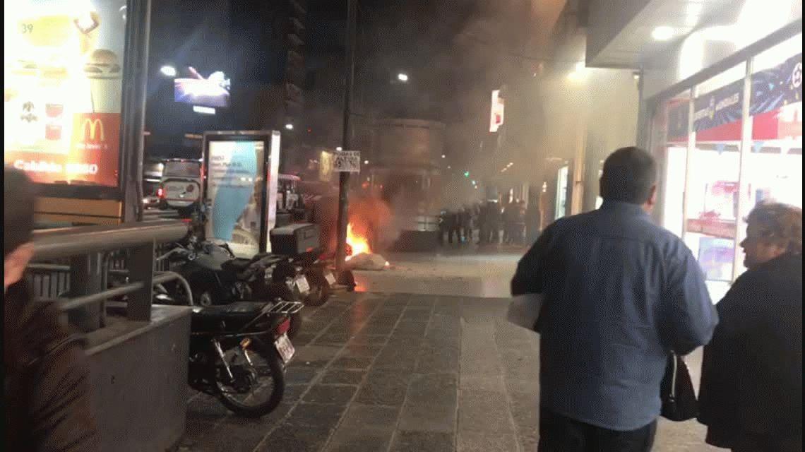 Un incendio en Cabildo y Juramento mantenía cortado el tránsito mano a Provincia