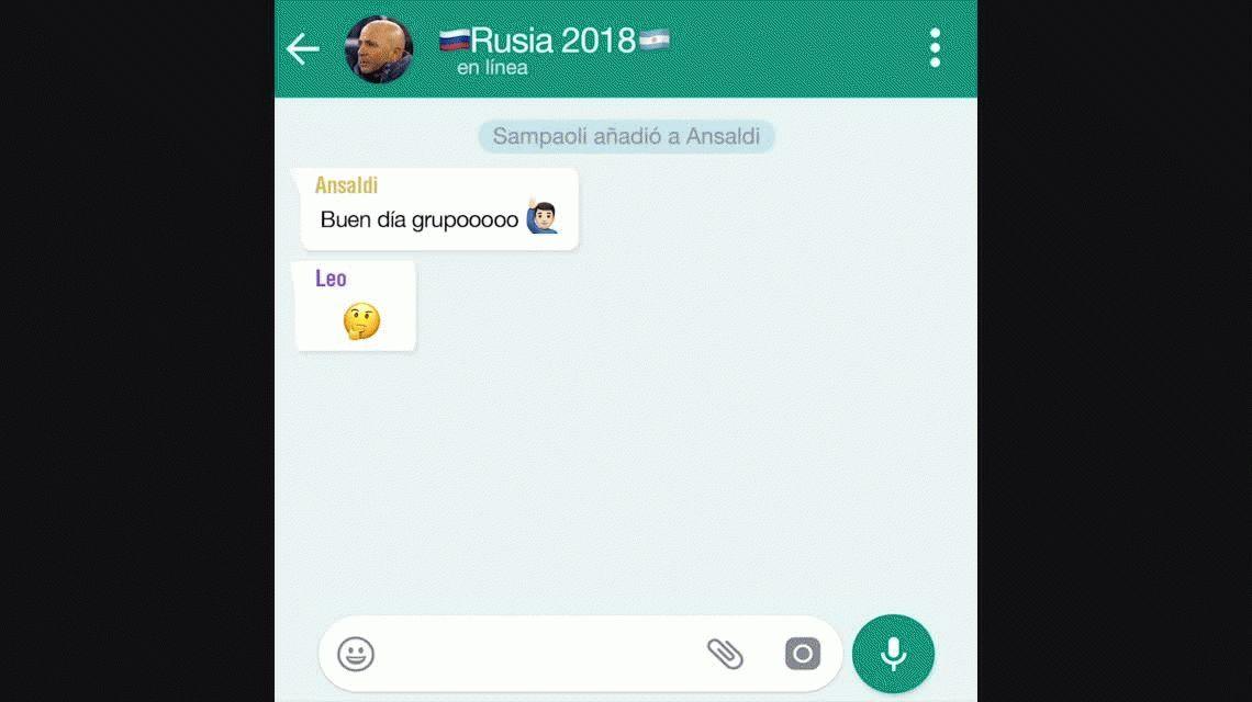 El WhatsApp de la Selección: Salió la lista y apareció el tapado