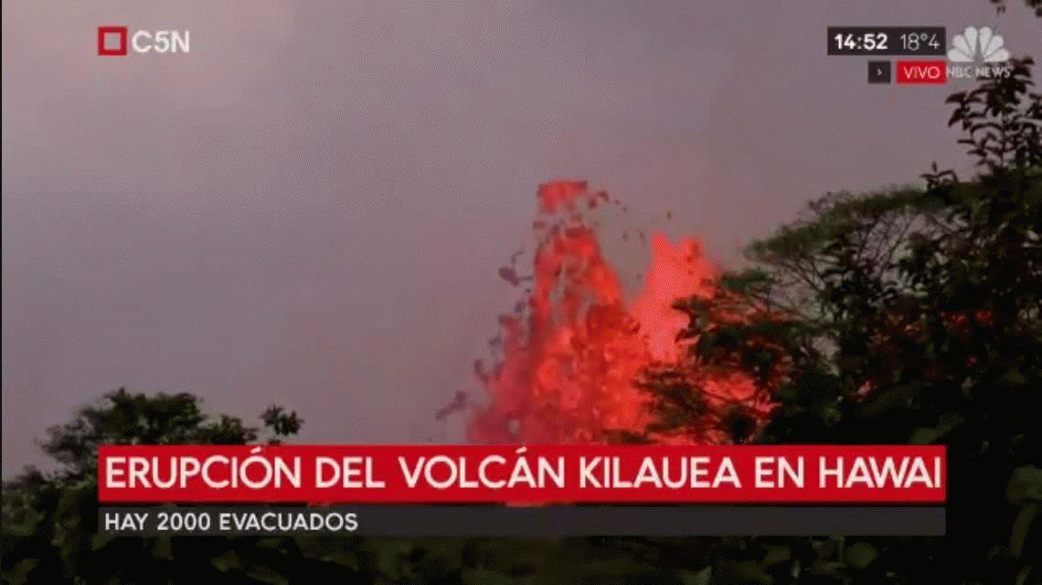 VIDEO: Espeluznante erupción del volcán Kilauea en Hawái