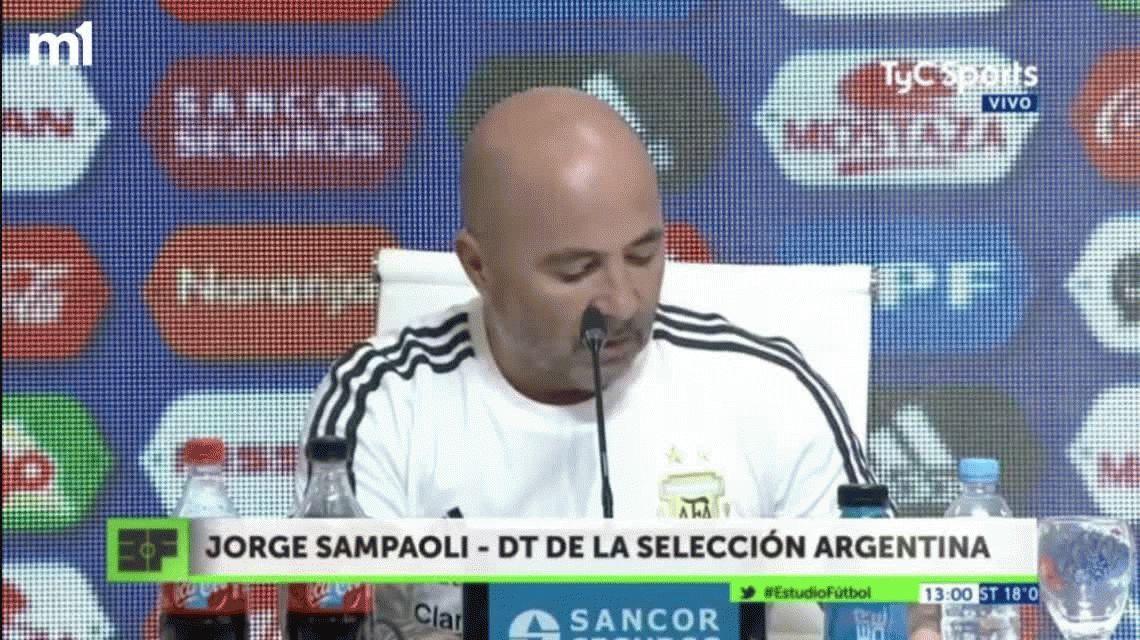 VIDEO: El error de Sampaoli al anunciar la lista para el Mundial de Rusia