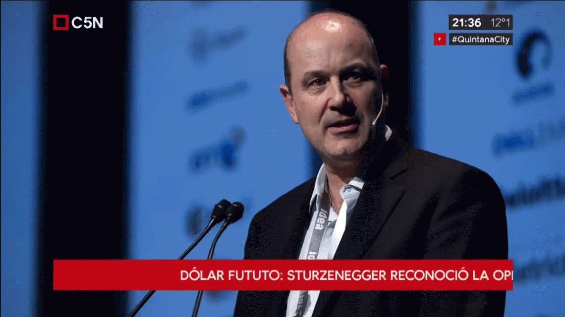 Sturzenegger reconoció que el Banco Central está vendiendo dólar futuro