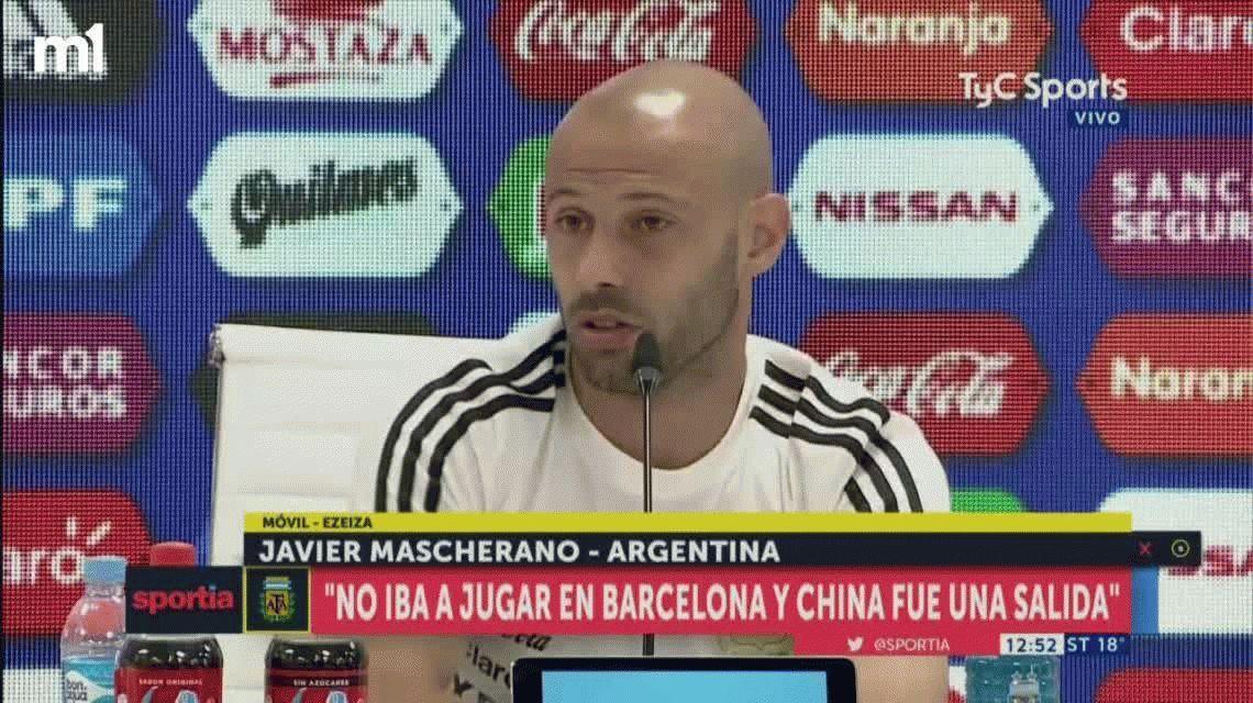 Mascherano admitió que habló con Francescoli para volver a River