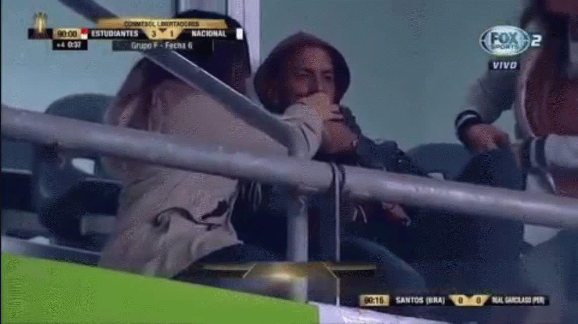 La pasó mal: la sonrisa más difícil para Verón durante el partido de Estudiantes