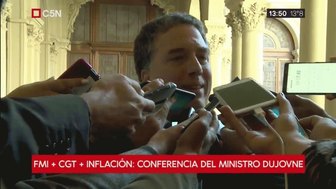 No hubo acuerdo entre la CGT y el Gobierno: Seguiremos conversando, dijo Dujovne