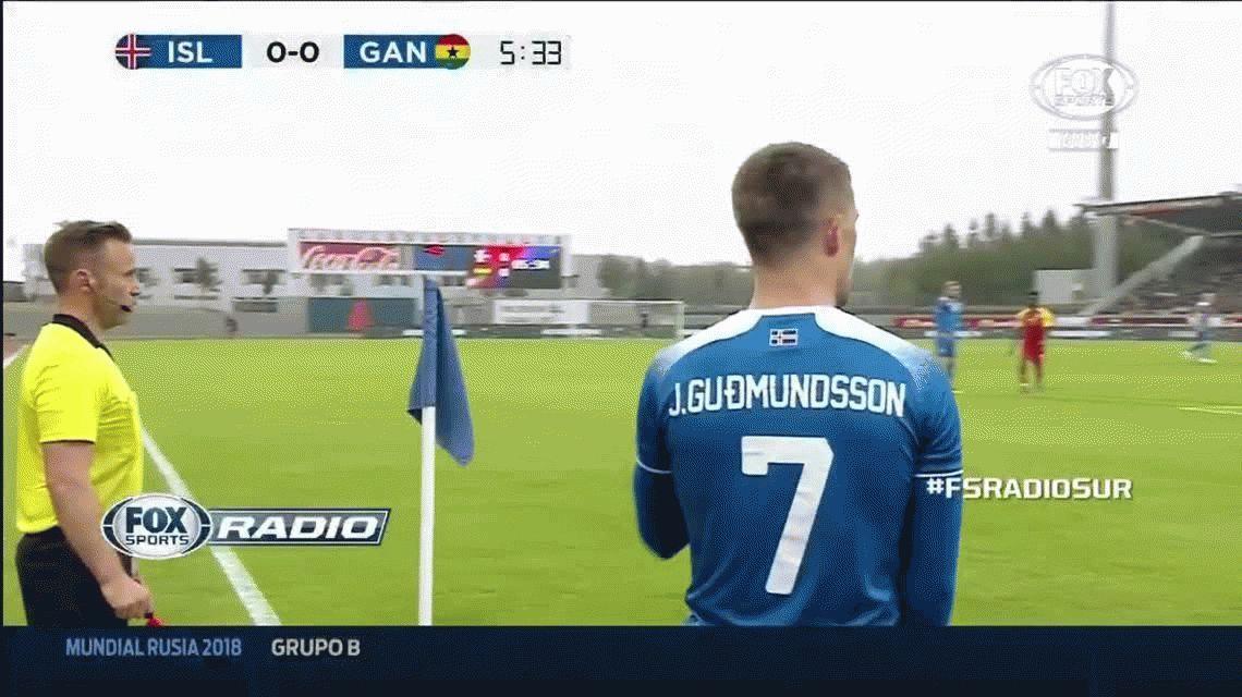 Sonríe Sampaoli: Islandia vencía 2 a 0 a Ghana y se lo empataron casi al final