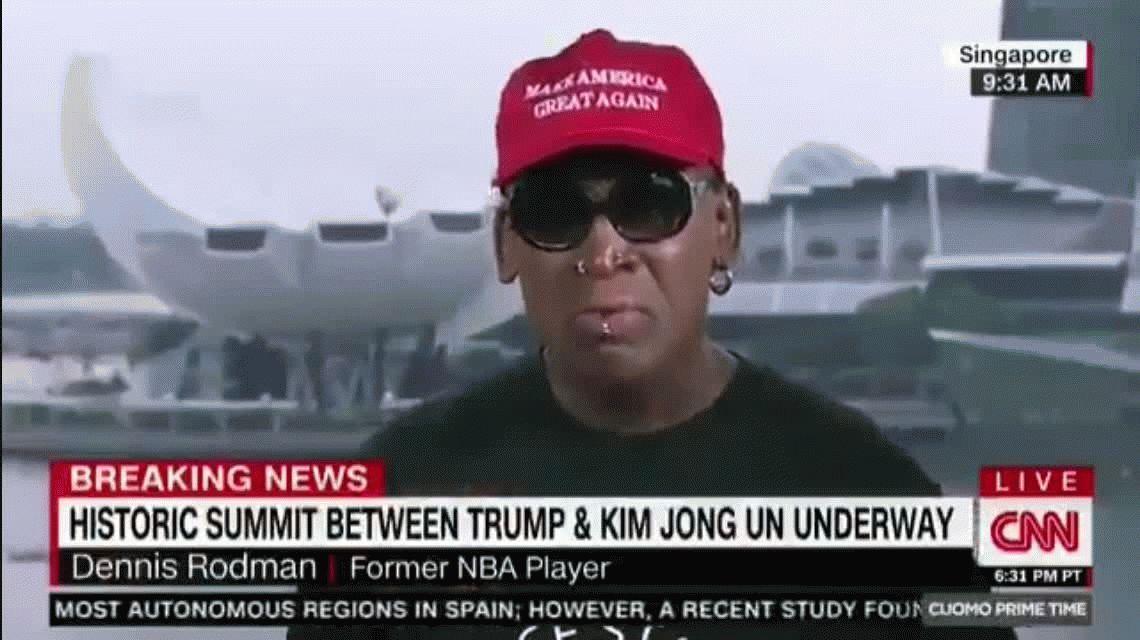 Dennis Rodman lloró de emoción por el encuentro entre Donald Trump y Kim Jong-Un