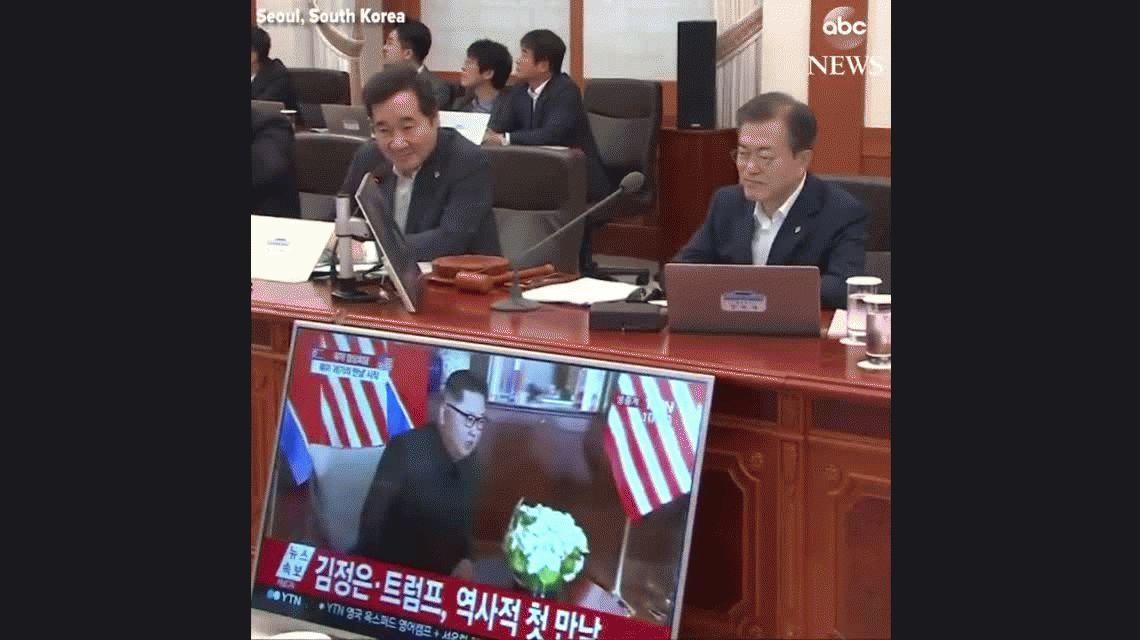 La emoción del presidente de Corea del Sur por la cumbre Trump Kim Jong-Un