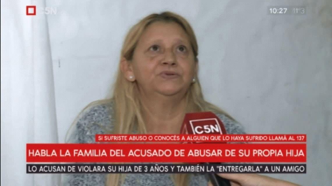 Habló la mamá del acusado de violar a su hija de 3 años: Es inocente