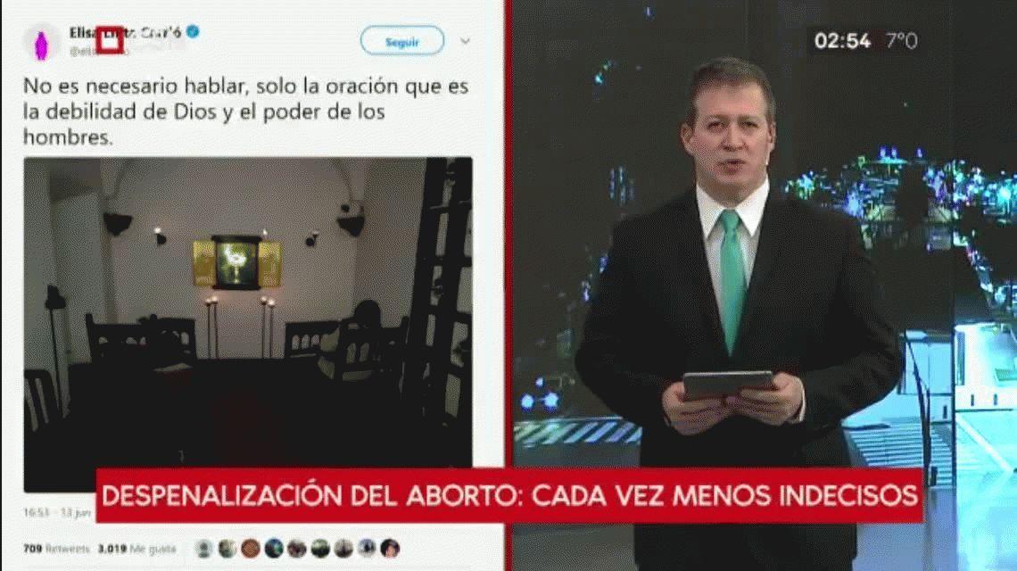 Otro exabrupto de Carrió: tildó a la movilización por el aborto de indigenismo urbanista