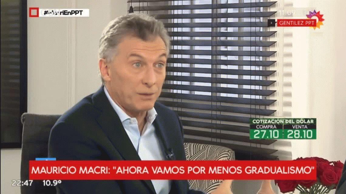 Macri culpó al peronismo por el acuerdo con el FMI y le puso fin al gradualismo