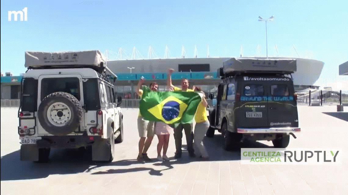 ¡No lo vas a poder creer! Más de dos años para llegar a Rusia para ver el Mundial