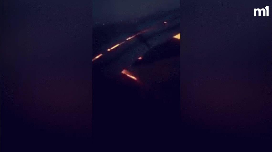 Susto en el aire: se incendió una turbina del avión que trasladaba a Arabia Saudita