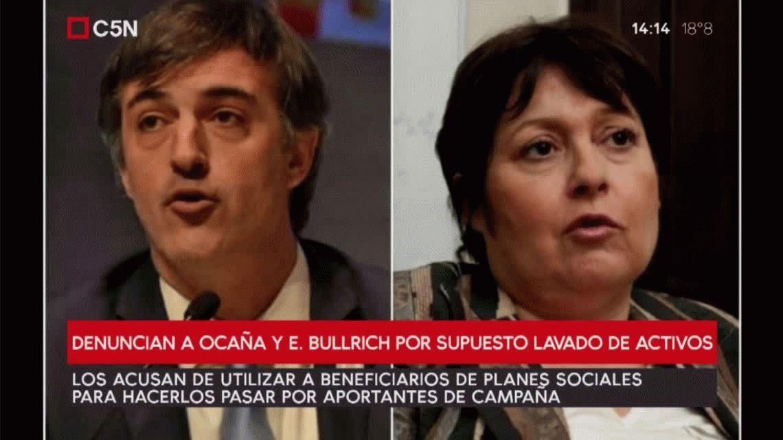 Denuncian a Esteban Bullrich y Ocaña por supuesto lavado de activos