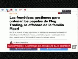 Panamá Papers: arduas gestiones para desligar a Mauricio Macri de Fleg Trading