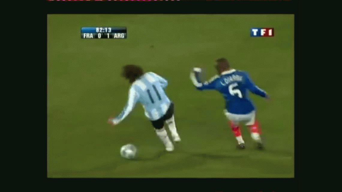 La última vez que no usó la 10 de la Selección, Messi le hizo un gol a Francia