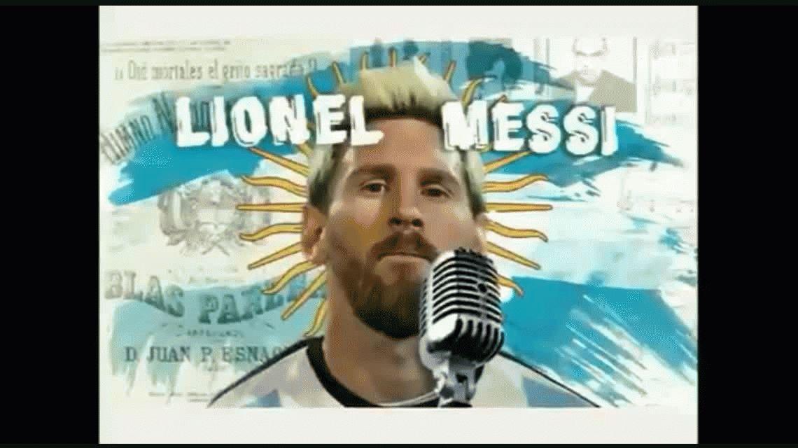 VIDEO: Así canta el himno Lionel Messi