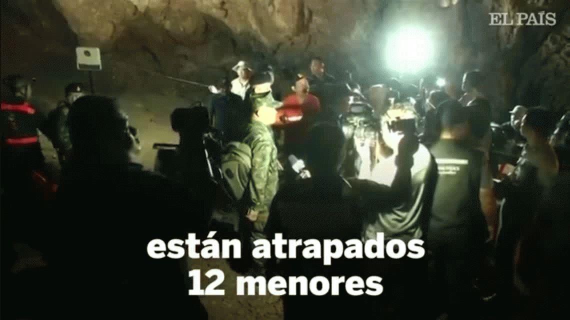 Tailandia: 12 chicos quedaron atrapados en una cueva
