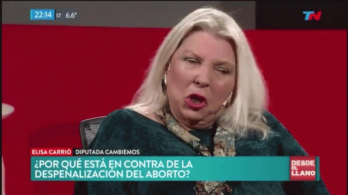 Elisa Carrió: A Macri lo engañaron; pensó que el aborto no salía y por eso habilitó el debate