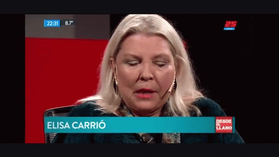 Otra barrabasada de Carrió: Era un orgullo entregarle la virginidad a un obispo y con el aborto queda impune