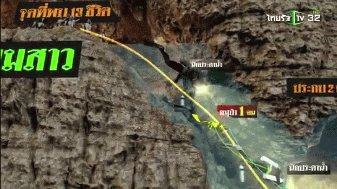 VIDEO: El recorrido para salvar a los chicos atrapados en la cueva de Tailandia