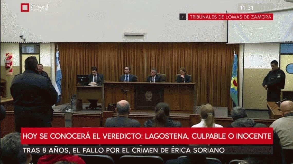Condenaron a Lagostena por la muerte y desaparición de Érica Soriano