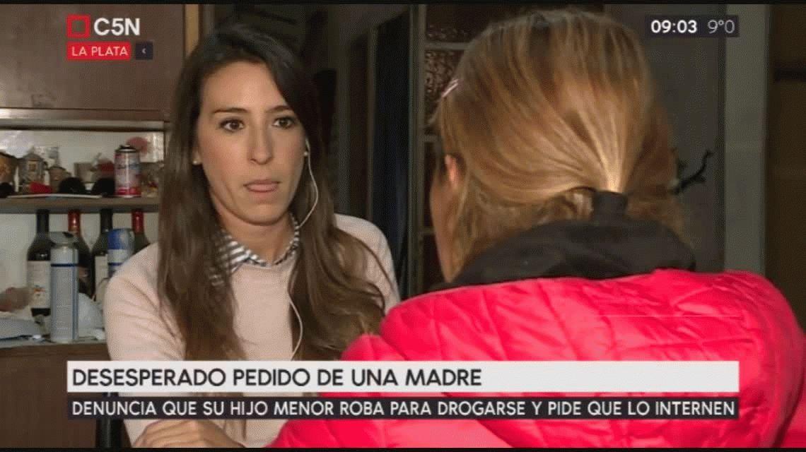 La Plata: una mujer pide que internen a su hijo, quien roba para drogarse