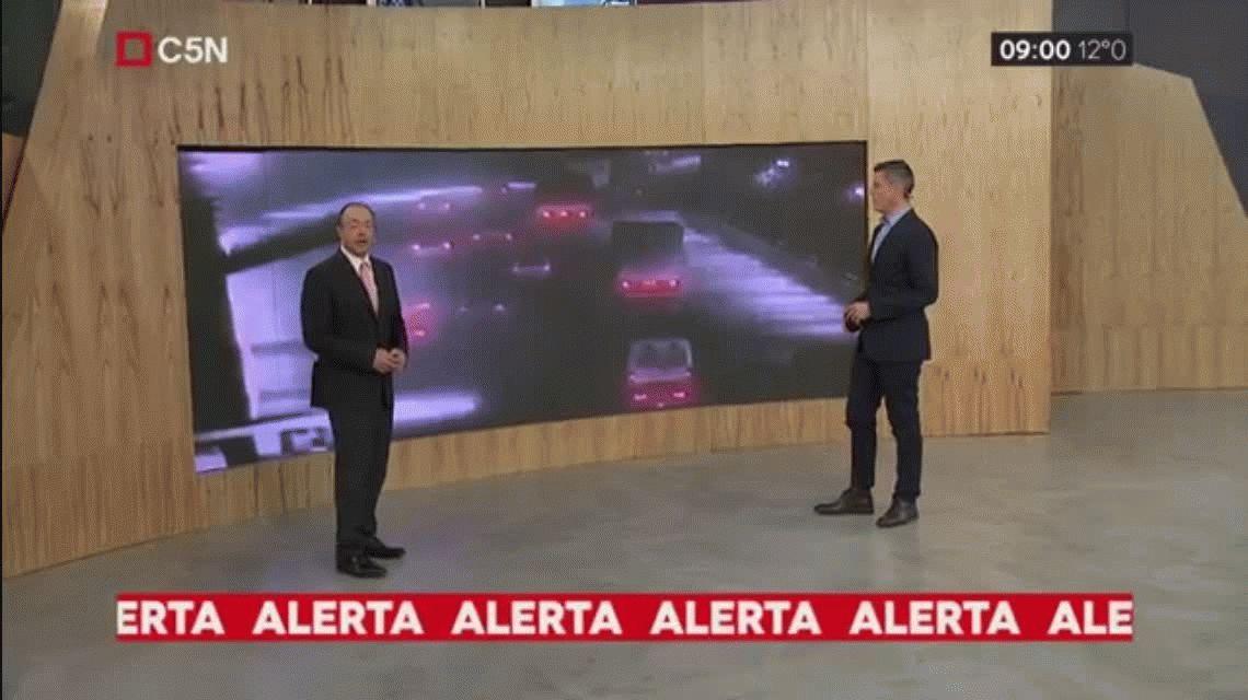 VIDEO: Así fue el choque múltiple de Lugones y Pampa