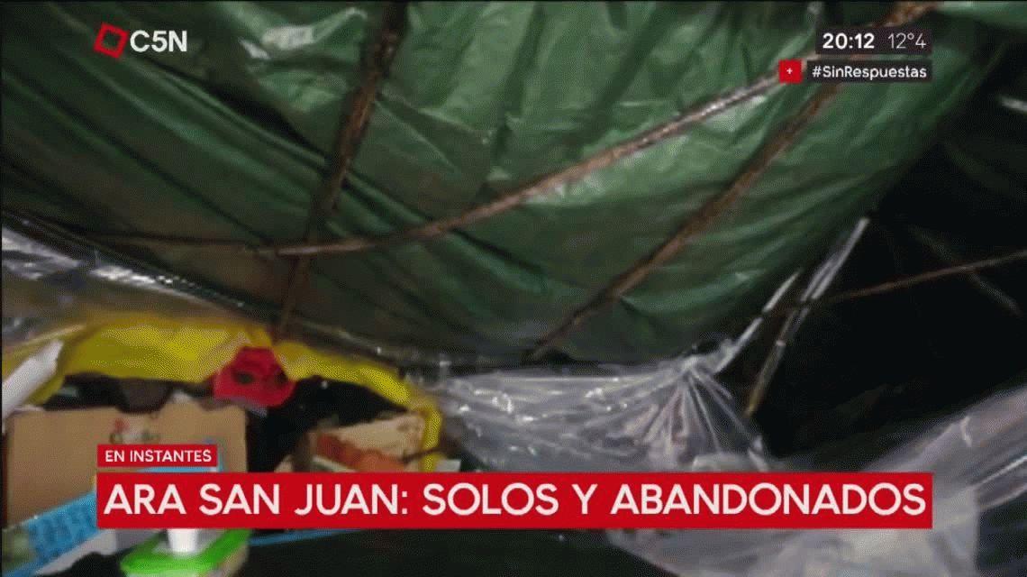 ARA San Juan: solos y abandonados, los familiares esperan respuestas en Plaza de Mayo