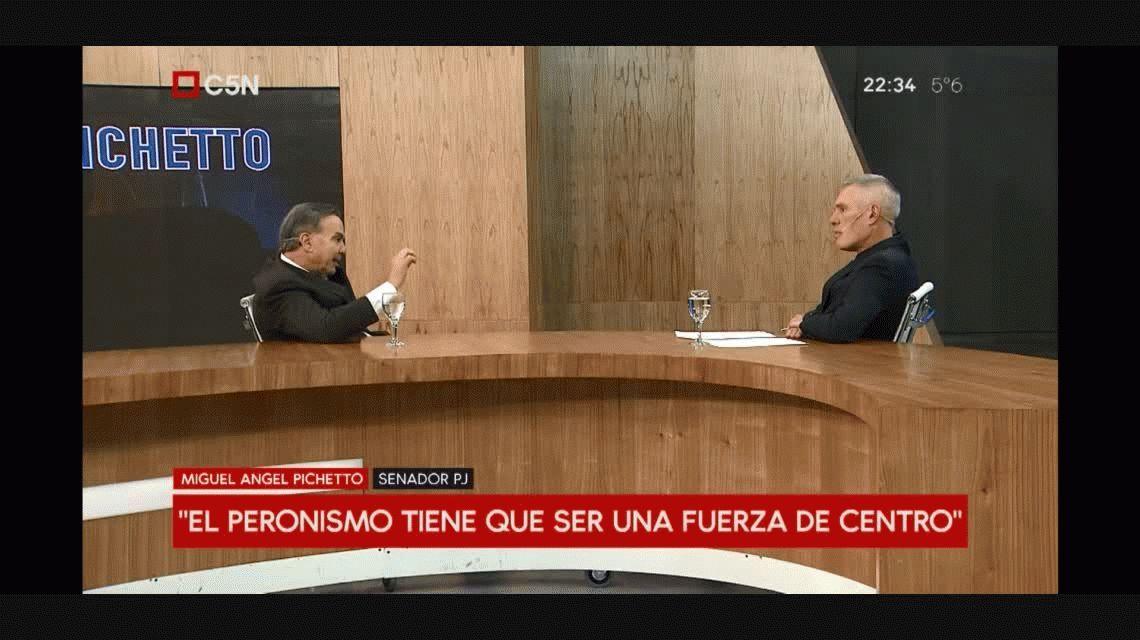 Para el 2019, Pichetto dice que no hay que subestimar a Tinelli y admite que están pensando en Lavagna