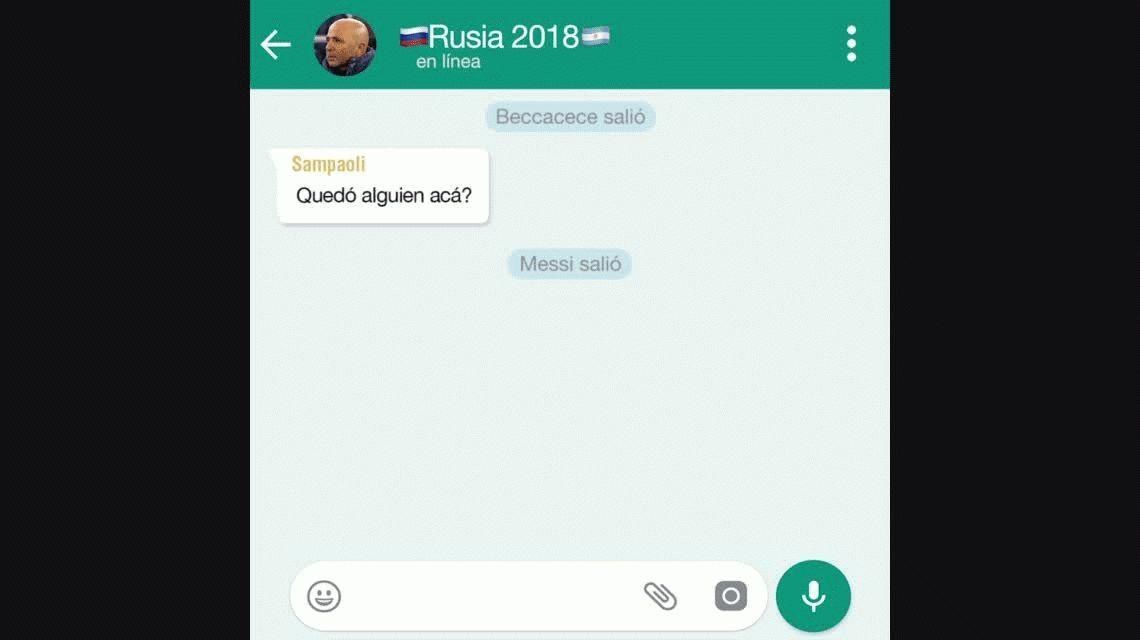 El WhatsApp de la Selección: ¿quedó alguien en el grupo?